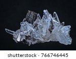 crystals druse on dark...   Shutterstock . vector #766746445