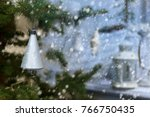 plastic silver colored bell on...   Shutterstock . vector #766750435
