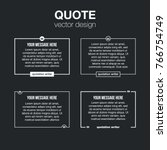innovative set vector quotation ... | Shutterstock .eps vector #766754749