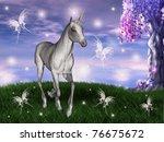 Unicorn In An Enchanted Meadow