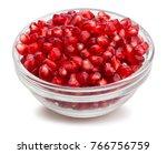 pomegranate seeds bowl path... | Shutterstock . vector #766756759