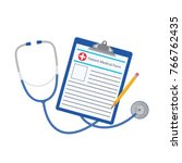 vector illustration. medical... | Shutterstock .eps vector #766762435