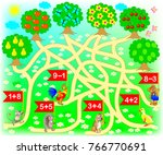 educational page with exercises ... | Shutterstock .eps vector #766770691
