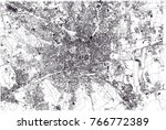 map of milan  satellite view ... | Shutterstock .eps vector #766772389