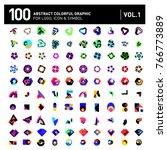 logo and icon mega collection.... | Shutterstock .eps vector #766773889