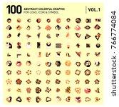 logo and icon mega collection.... | Shutterstock .eps vector #766774084
