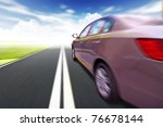 car on the road wiht motion... | Shutterstock . vector #76678144