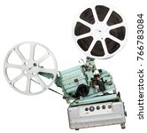 a movie projector is an opto...   Shutterstock . vector #766783084