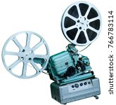 a movie projector is an opto...   Shutterstock . vector #766783114