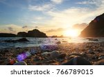 beach sunset background. | Shutterstock . vector #766789015