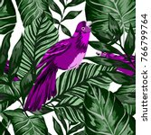 tropical seamless pattern with... | Shutterstock .eps vector #766799764