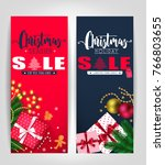 christmas season and holiday... | Shutterstock .eps vector #766803655