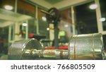 steel dumbbell in the gym.... | Shutterstock . vector #766805509