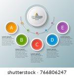vector abstract 3d paper...   Shutterstock .eps vector #766806247