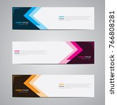 banner background.modern... | Shutterstock .eps vector #766808281