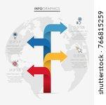 modern info graphic template... | Shutterstock .eps vector #766815259