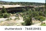 ancient cliff dwellings at mesa ... | Shutterstock . vector #766818481