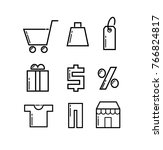 set of icons sale | Shutterstock .eps vector #766824817