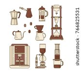 alternative coffee brewing... | Shutterstock .eps vector #766825531