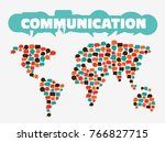 world map made of colorful... | Shutterstock .eps vector #766827715