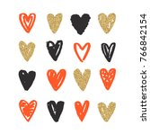 love doodle background with... | Shutterstock .eps vector #766842154