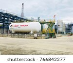 liquid ammonia storage used in... | Shutterstock . vector #766842277