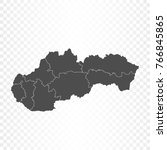 slovakia map isolated on... | Shutterstock .eps vector #766845865