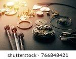 mechanical watch repairing...   Shutterstock . vector #766848421