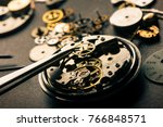 mechanical watch repairing... | Shutterstock . vector #766848571