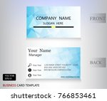 blue banner name card square... | Shutterstock .eps vector #766853461