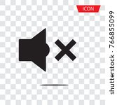sound off icon vector  mute... | Shutterstock .eps vector #766855099