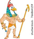 bird headed ancient egypt... | Shutterstock .eps vector #766864159