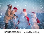 new year christmas snow concept ... | Shutterstock . vector #766873219