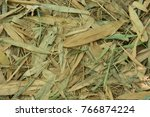 Dry Bamboo Leaves Stacked In...