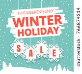 winter holiday sale promo ads.... | Shutterstock .eps vector #766874314