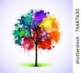 Colorful Abstract Tree...