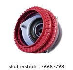 automotive part. rubber shock mount. Isolated on white with clipping path - stock photo