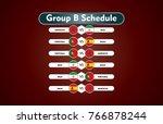 world cup russia 2018. match... | Shutterstock .eps vector #766878244