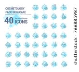 vector graphic set. icons in... | Shutterstock .eps vector #766885987