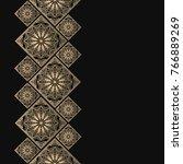 golden frame in oriental style. ... | Shutterstock .eps vector #766889269