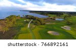 Aerial View Over Fairway On A...