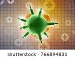 3d rendering viruses in... | Shutterstock . vector #766894831