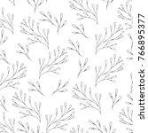 vector floral seamless pattern... | Shutterstock .eps vector #766895377