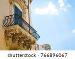 noto town in sicily  the... | Shutterstock . vector #766896067