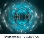 beautiful abstract blue bokeh... | Shutterstock . vector #766896721