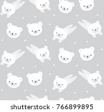 pattern white bear grey | Shutterstock .eps vector #766899895