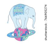 space elephant  vector... | Shutterstock .eps vector #766905274