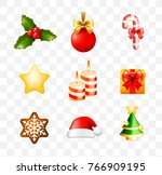 christmas time  set of elements ... | Shutterstock .eps vector #766909195