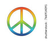 peace symbol rainbow colors... | Shutterstock .eps vector #766914091