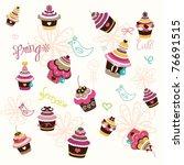 Cupcake Wall Paper Design